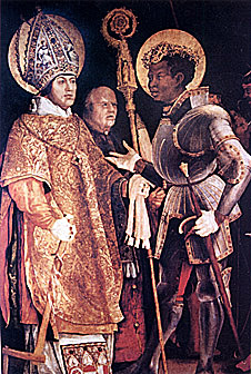 St Maurice , patron saint of German royality